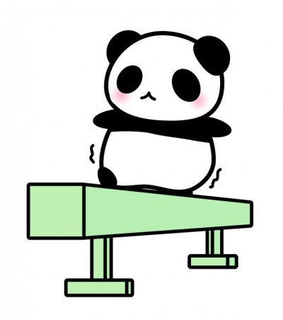 パンダ 平均台